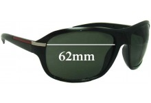 Sunglass Fix Sunglass Replacement Lenses for Unknown L2031 - 62mm Wide