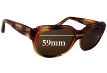 Sunglass Fix Sunglass Replacement Lenses for Unknown Unidentified - 59mm Wide