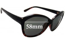 Sunglass Fix Sunglass Replacement Lenses for Witchery Yolanda - 58mm Wide