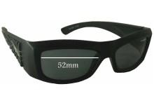 Sunglass Fix Sunglass Replacement Lenses for Arnette AN4057 - 52mm Wide