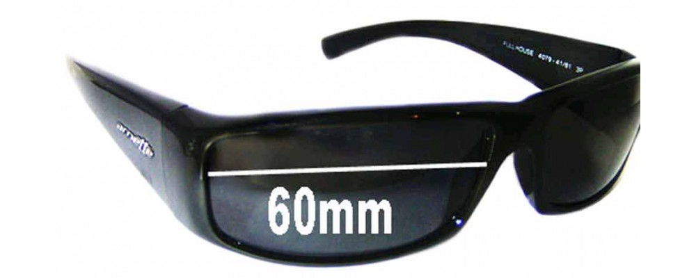Sunglass Fix Sunglass Replacement Lenses for Arnette Full House AN4079 - 60mm Wide