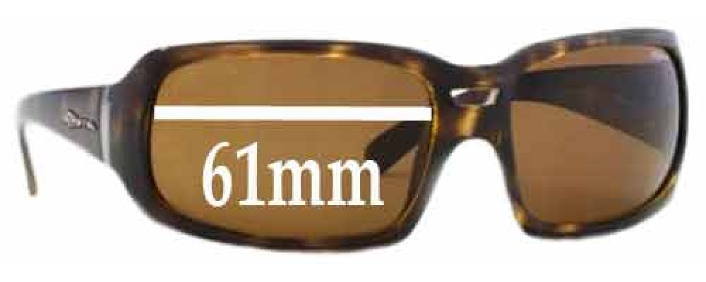 Sunglass Fix Replacement Lenses for Arnette Rushmore AN4081 - 61mm Wide