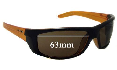 Sunglass Fix Sunglass Replacement Lenses for Arnette AN4165 Boneyard Sunglass Replacement Lenses- 63mm wide