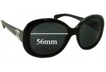 Sunglass Fix Sunglass Replacement Lenses for Chanel 5188 - 56mm Wide