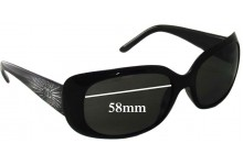 Sunglass Fix Sunglass Replacement Lenses for Chanel 6026-B - 58mm Wide