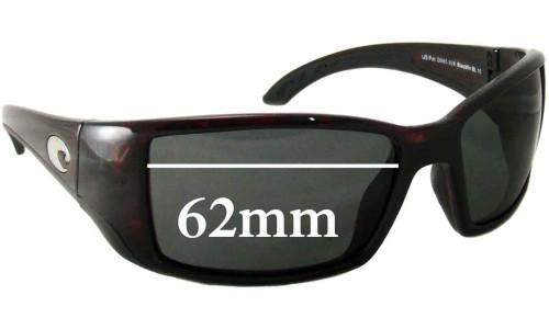 Sunglass Fix Sunglass Replacement Lenses for Costa Del Mar Blackfin - 62mm Wide