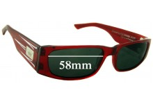 Sunglass Fix Sunglass Replacement Lenses for Crown Eddie G - 58mm Wide