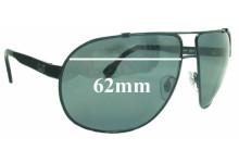 Sunglass Fix Sunglass Replacement Lenses for Dolce & Gabbana DG6070 - 62mm Wide
