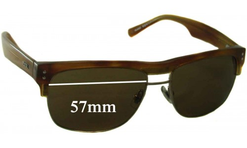Sunglass Fix Sunglass Replacement Lenses for Fossil Unknown Model - 57mm Wide