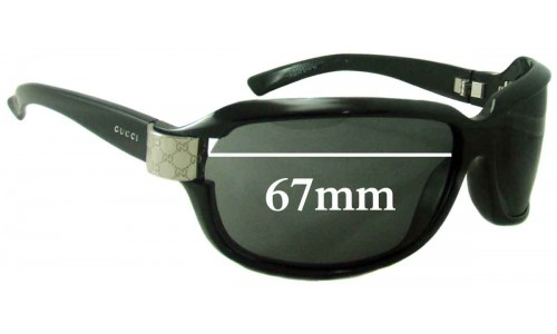 Sunglass Fix Sunglass Replacement Lenses for Gucci 2984 N/S - 67mm wide