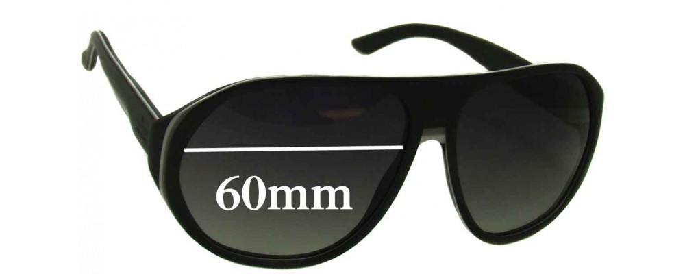 Sunglass Fix Replacement Lenses for Gucci GG1025/S - 60mm Wide