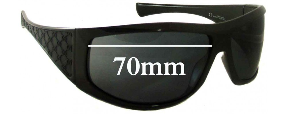 Sunglass Fix Replacement Lenses for Gucci GG1560/S - 70mm Wide
