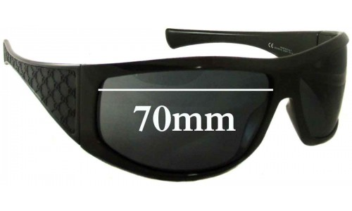Sunglass Fix Sunglass Replacement Lenses for Gucci GG1560/S - 70mm wide