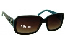 Sunglass Fix Sunglass Replacement Lenses for Gucci GG 3159/S - 58mm Wide
