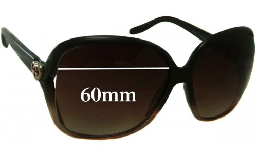 Sunglass Fix Sunglass Replacement Lenses for Gucci GG 3500/S - 60mm Wide