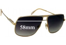 Sunglass Fix Sunglass Replacement Lenses for Gucci Unknown Model - 58mm Wide
