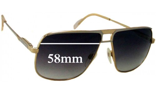 Sunglass Fix Sunglass Replacement Lenses for Gucci Unknown Vintage Model - 58mm wide