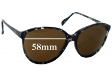 Sunglass Fix Sunglass Replacement Lenses for Haute Couture 3613-8 - 58mm Wide