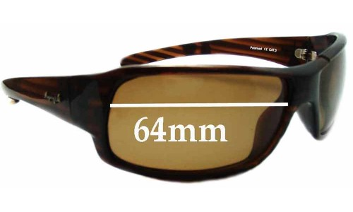 Sunglass Fix Sunglass Replacement Lenses for Mangrove Jacks Layback - 64mm Wide