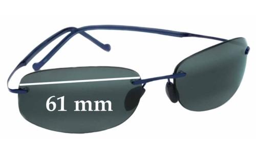 Sunglass Fix Sunglass Replacement Lenses for Maui Jim Honolua Bay MJ-516 - 61mm Wide