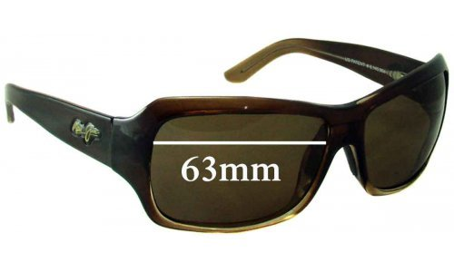 Sunglass Fix Sunglass Replacement Lenses for Maui Jim MJ111 Palms - 63mm Wide