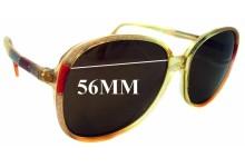 Sunglass Fix Sunglass Replacement Lenses for Metzler 0320 - 56mm