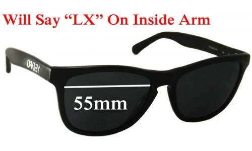 Sunglass Fix Sunglass Replacement Lenses for Oakley Frogskins LX - 55mm Wide