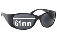 Sunglass Fix Sunglass Replacement Lenses for Prada SPR07G - 61mm Wide