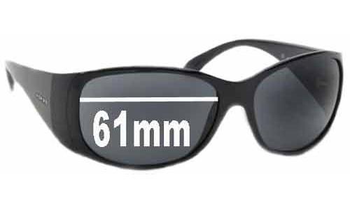 Sunglass Fix Sunglass Replacement Lenses for Prada SPR07G - 61mm Wide