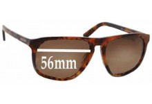 Sunglass Fix Sunglass Replacement Lenses for Prada SPR22L - 56mm Wide