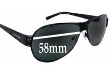 Sunglass Fix Sunglass Replacement Lenses for Prada SPR53I - 58mm Wide