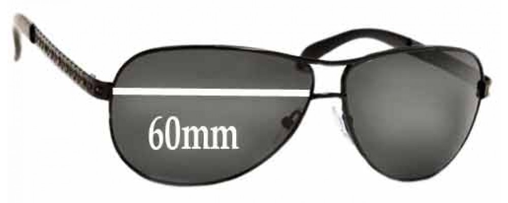 Sunglass Fix Sunglass Replacement Lenses for Prada SPR56I - 60mm Wide