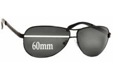 Sunglass Fix Sunglass Replacement Lenses for Prada SPR56I - 60mm Wide
