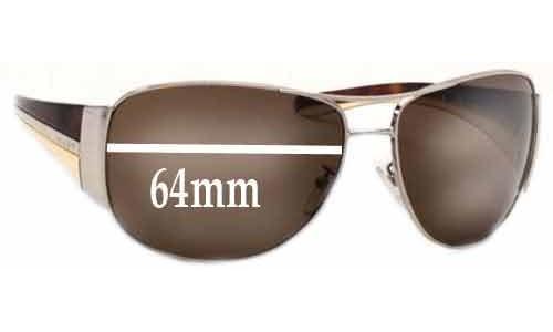 Sunglass Fix Sunglass Replacement Lenses for Prada SPR75G - 64mm wide lens