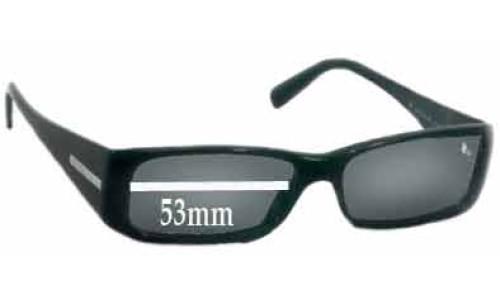 Sunglass Fix Sunglass Replacement Lenses for Prada VPR03G -53mm wide