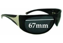 Sunglass Fix Sunglass Replacement Lenses for Prada AB1A1 - 67mm Wide