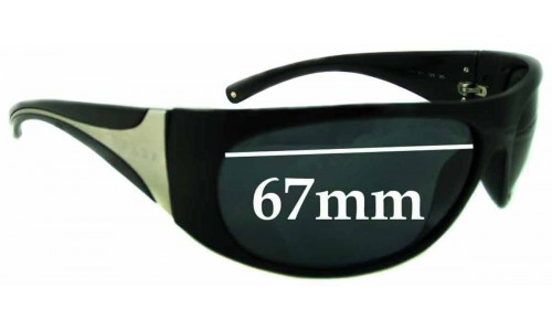 Sunglass Fix Sunglass Replacement Lenses for Prada AB1A1 - 67MM across