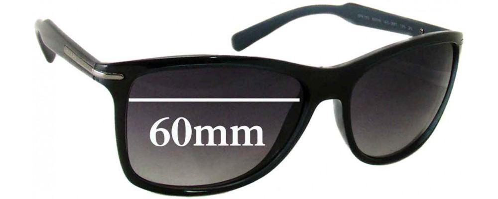 Sunglass Fix Sunglass Replacement Lenses for Prada SPR10O - 60mm Wide