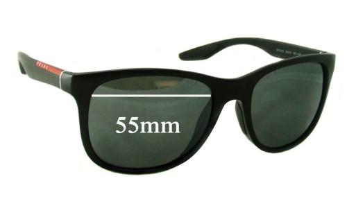 Sunglass Fix Sunglass Replacement Lenses for Prada SPS03O - 55mm Wide