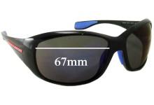 Sunglass Fix Sunglass Replacement Lenses for Prada SPS06M - 67mm Wide