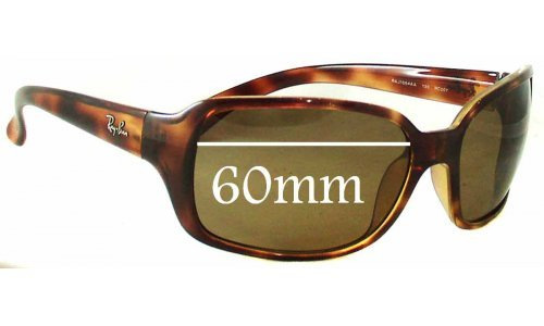 Sunglass Fix Sunglass Replacement Lenses for Ray Ban RAJ1554 RC007 - 60mm Wide