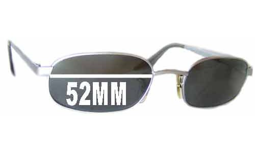 Sunglass Fix Sunglass Replacement Lenses for Ray Ban W2321 - 52mm across