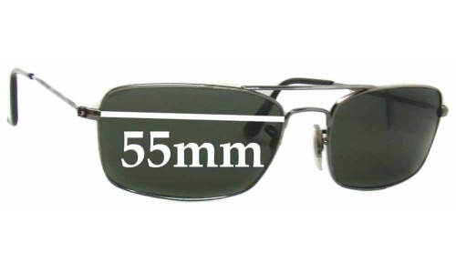 Sunglass Fix Sunglass Replacement Lenses for Ray Ban RB3309 55mm