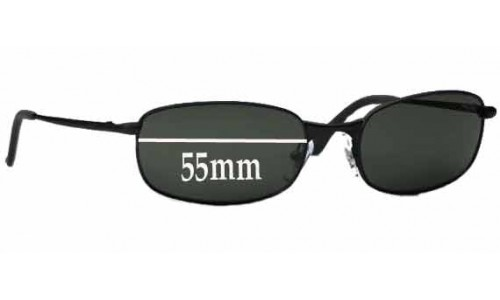Sunglass Fix Sunglass Replacement Lenses for Ray Ban RB3162 Sleek - 55mm