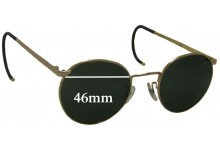 Sunglass Fix Sunglass Replacement Lenses for Randolph Engineering John Lennon - 46mm Wide