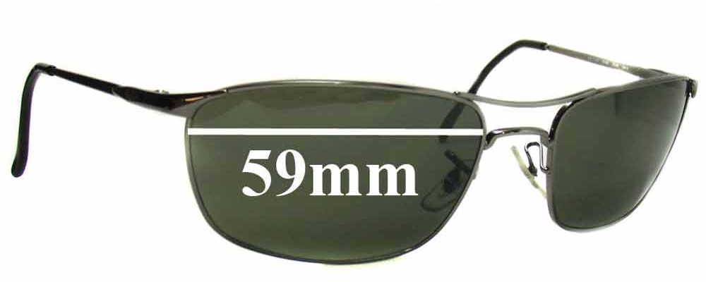 b3ca059f349 Ray Ban RB3132 Sunglass Replacement Lenses - 59mm wide