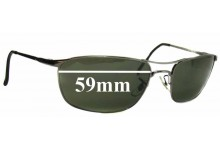 Sunglass Fix Sunglass Replacement Lenses for Ray Ban RB3132 - 59mm Wide