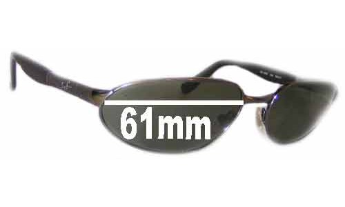 Sunglass Fix Sunglass Replacement Lenses for Ray Ban Predator RB3252 - 61mm wide