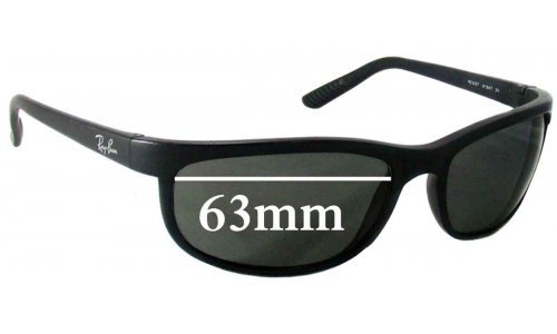 Sunglass Fix Sunglass Replacement Lenses for Ray Ban RB2027 - 63mm Wide