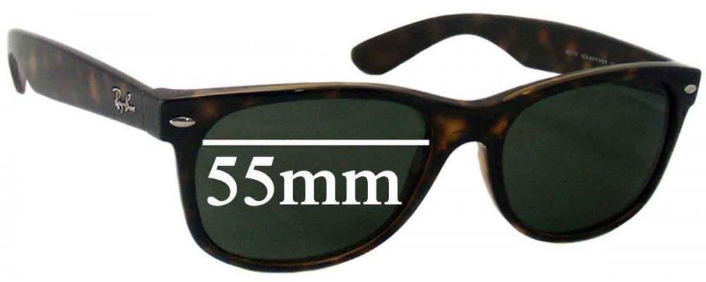 f772fbe848 Sunglass Fix Sunglass Replacement Lenses for Ray Ban RB2132 New Wayfarer  55mm wide x 41mm high